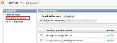 Amazon SES Email Verify