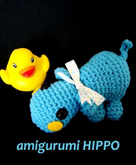 HAPPYAMIGURUMI: Amigurumi Hippo PDF pattern!