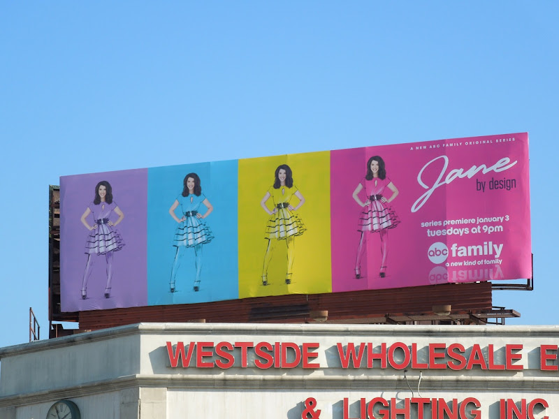 Jane By Design TV billboard