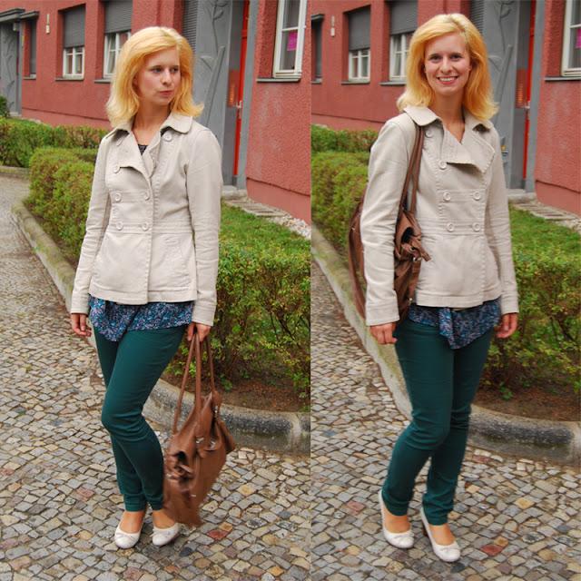 Outfit: meine neue grüne Jeans