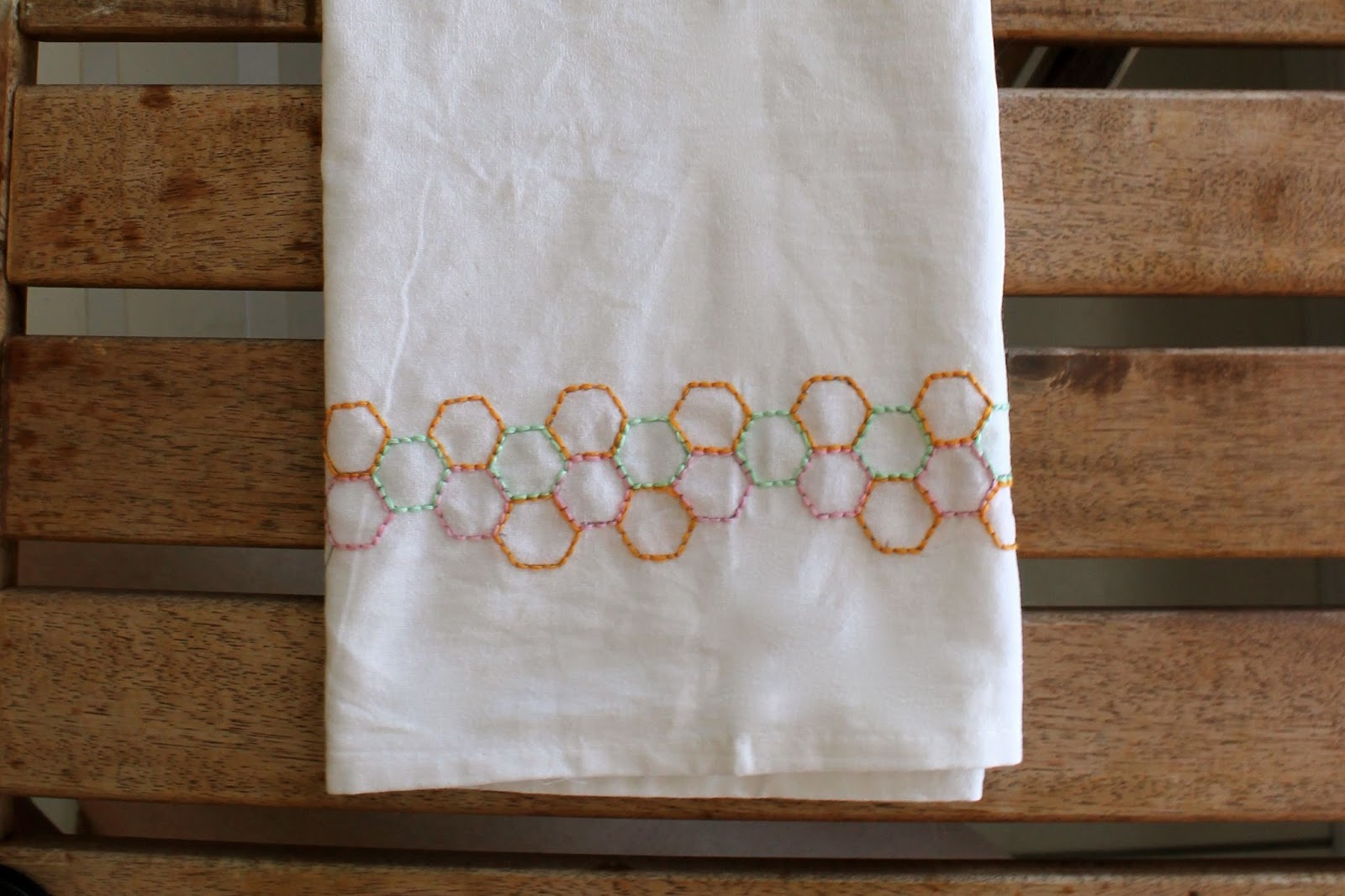Ladyface Blog Diy Embroidered Tea Towel