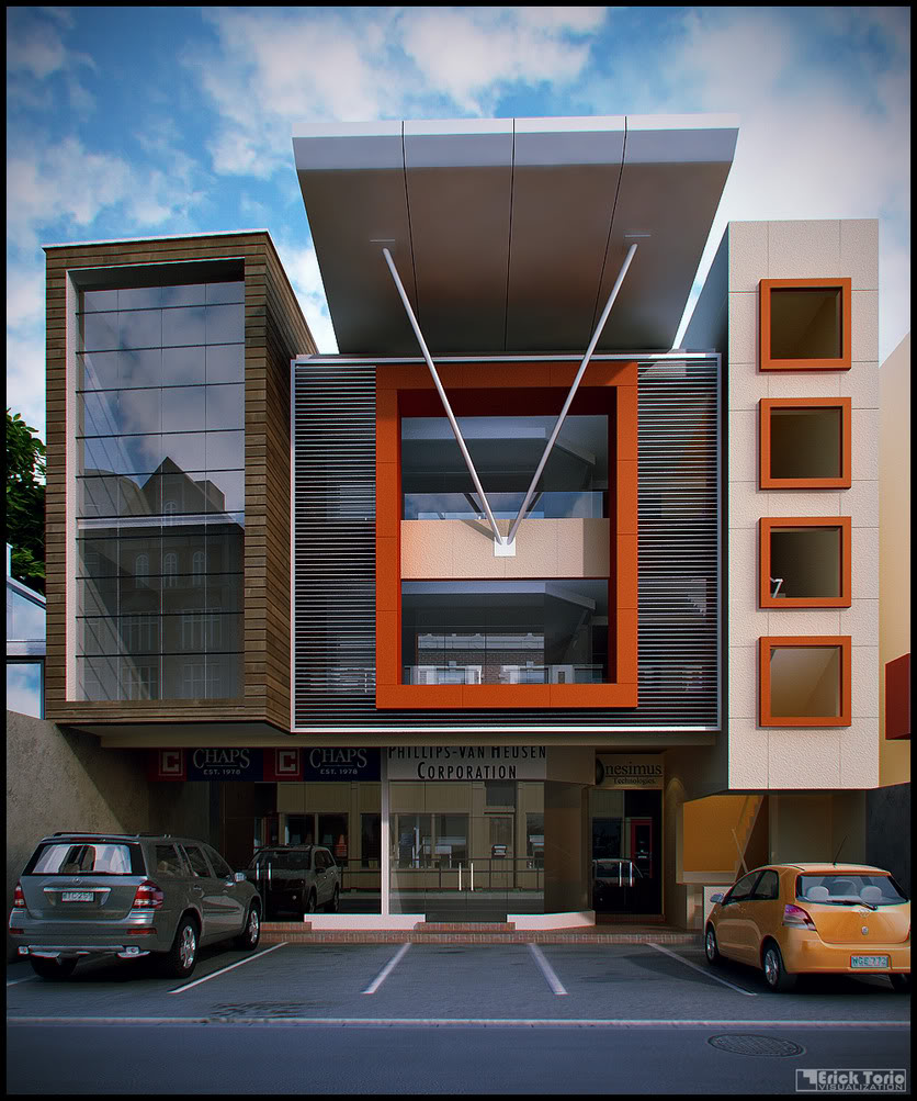 Commercial building 3d architecture visualizations for Commercial building exterior design
