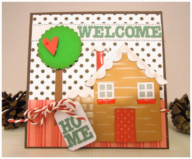 Crafting Ideas From Sizzix Uk Welcome Home Card