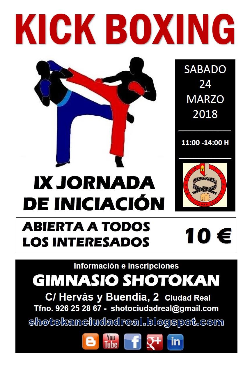 IX jornada Iniciación Kick Boxing