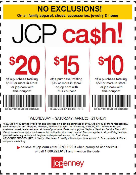 Printable Coupons: JcPenney Coupons
