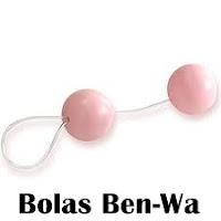 Bolas Ben-Wa tem duas ou quatro bolinhas e facilita o movimento de sugar e expulsar o pênis