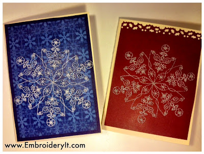 How To Do Machine Embroidery On Cardstock - Sweet Christmas Cards ...