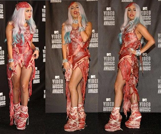 Lady Gaga's Meat Dress turned into Jerky