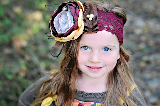 Fall Cabbage Rose Headband m2m matilda jane