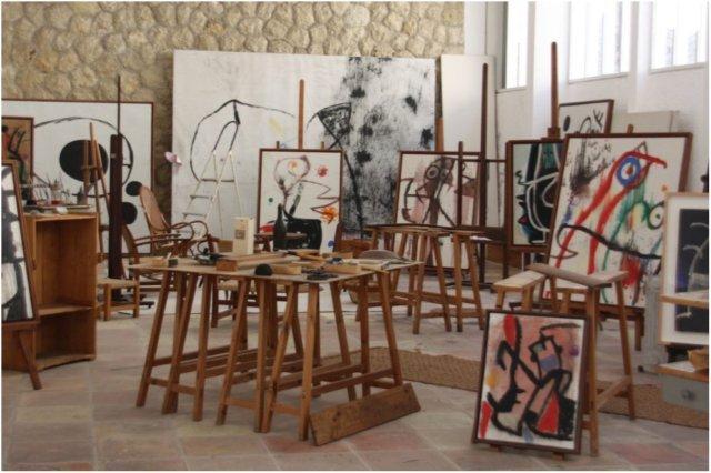 Interior del Taller Sert en la Fundacion Pilar y Joan Miro en Mallorca