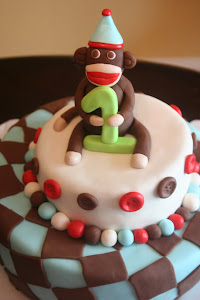 Sock Monkey Cake