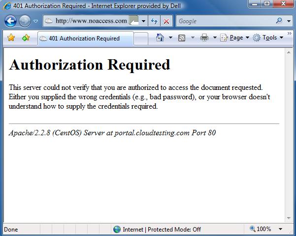 Pesan Error 401 Unauthorized