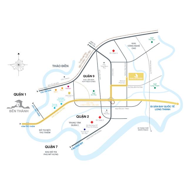 vị trí dự án nhà phố biệt thự Park Riverside Quận 9