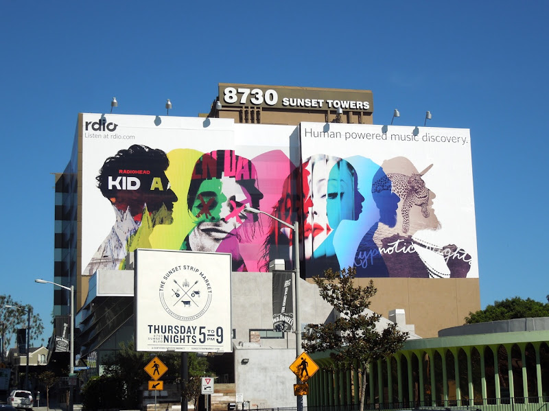 Giant Rdio music billboard