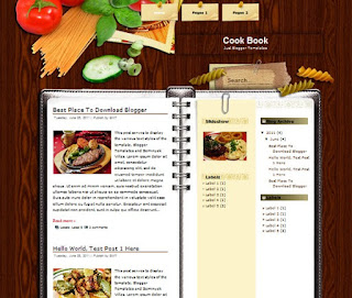 Cook Book Blogger Template