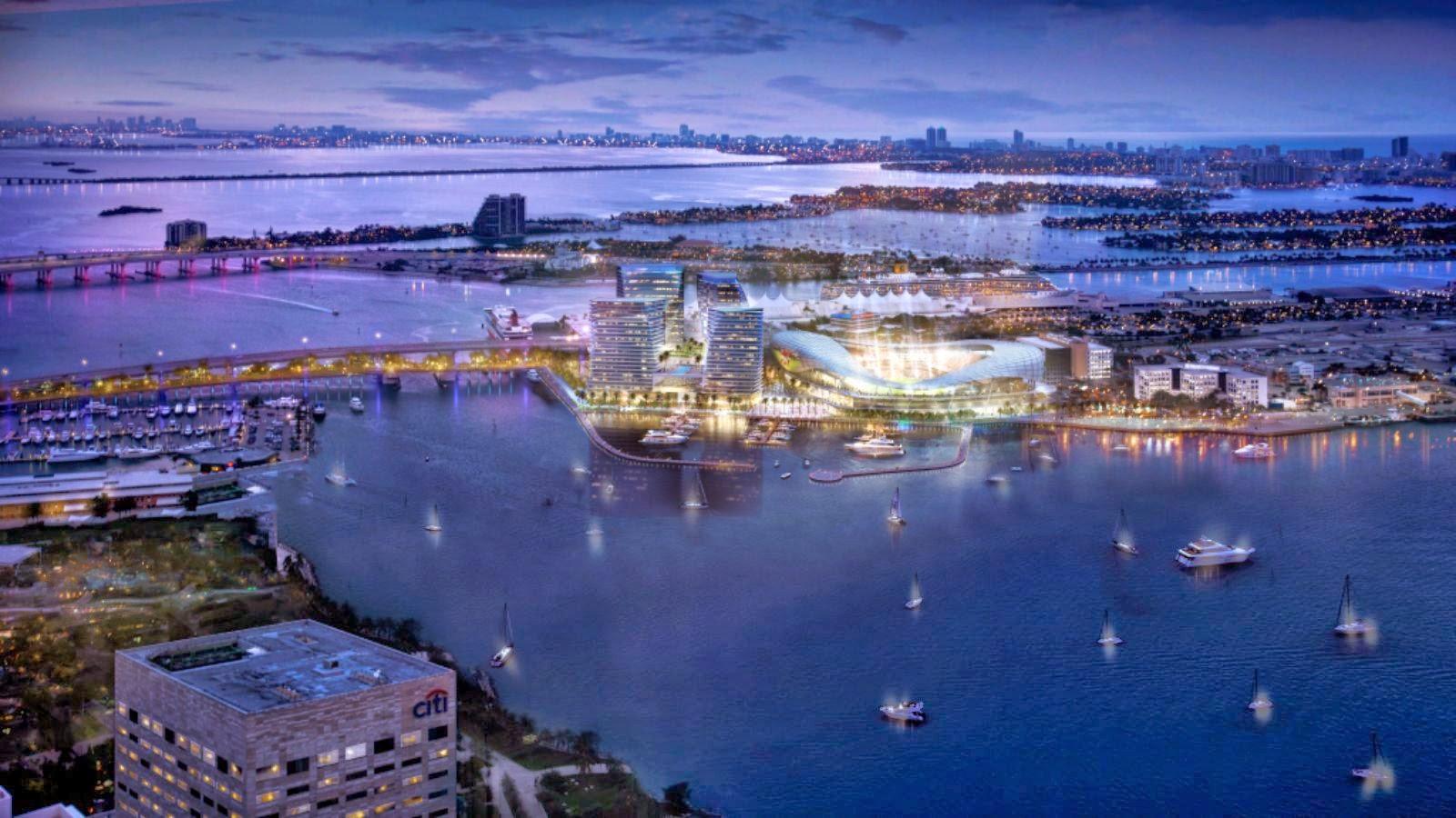Patrocinada por el 04-Estadio-Port-Miami por Arquitectonica por David Beckham-