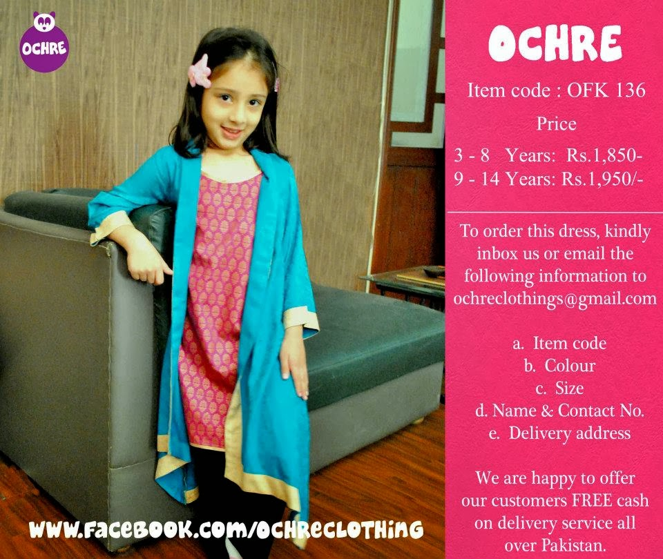 Ochre Clothing New Stylish Kids Dresses Collection 2014