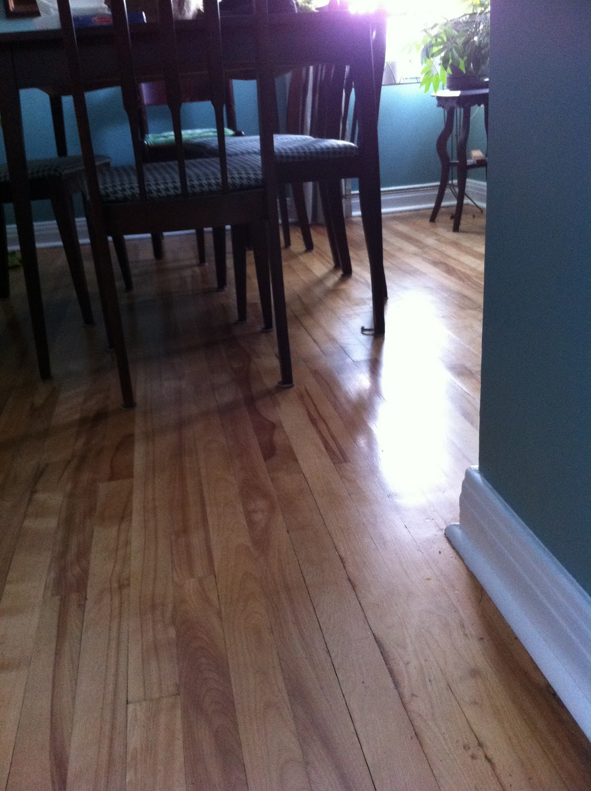 Adventures in retro renovating wood floor redo and maybe for Hardwood floors too shiny