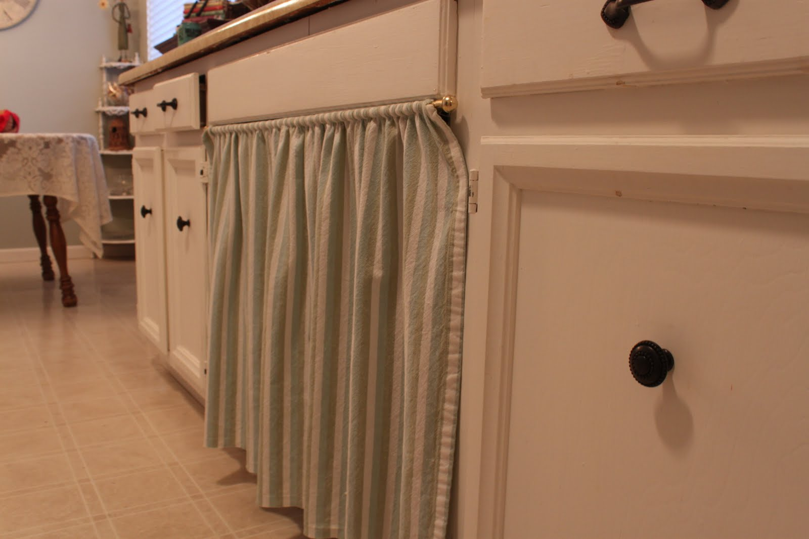 Curtain Under Kitchen Sink