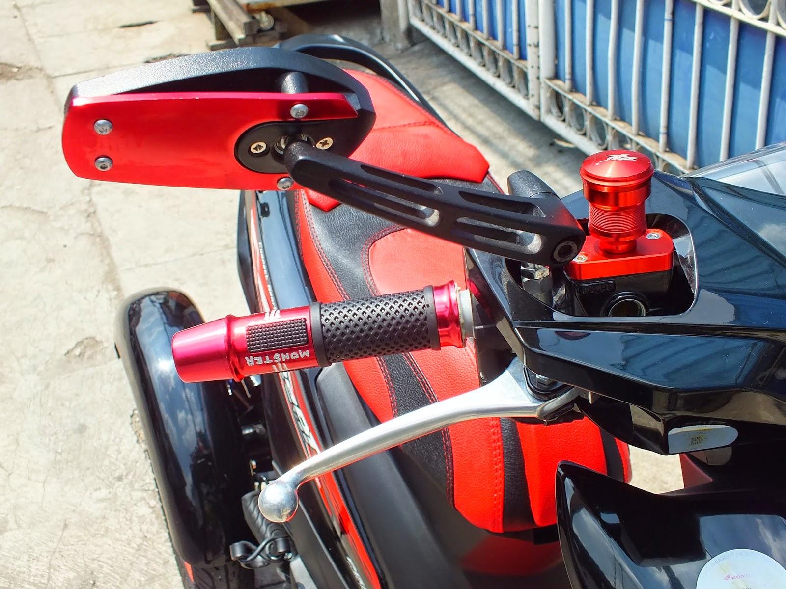 Kumpulan Modifikasi Motor Matic Beat Warna Merah Terbaru Pojok Cover Tutup Knalpot Honda Vario 125 Oracle Modification Concept Roda 3 Konsep Middle Class