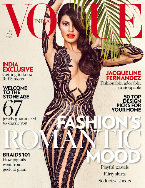Actress, Model @ Jacqueline Fernandez for Vogue India, July 2015