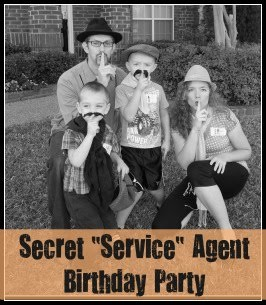 "Secret ""Service"" Agent Birthday Party"