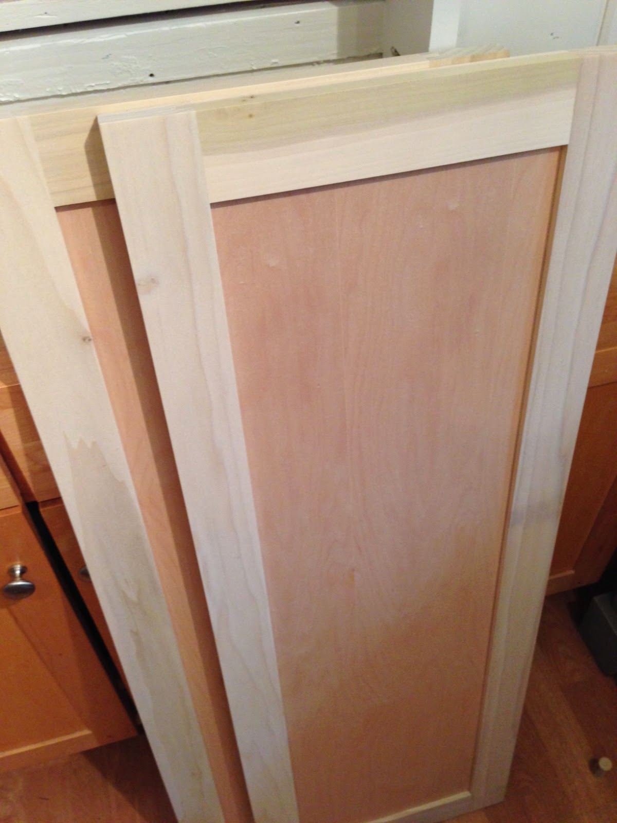 Blue Roof Cabin Diy Pantry Cabinet Using Custom Cabinet Doors
