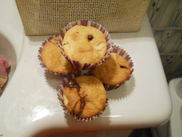 muffin tradizionali con cioccolato gianduia