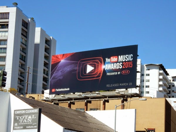 YouTube Music Awards 2015 billboard