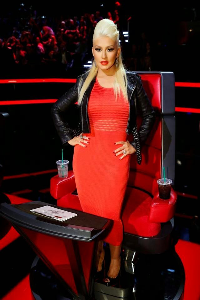 Fotos: Look de Christina Aguilera en The Voice (13/04/15 ...