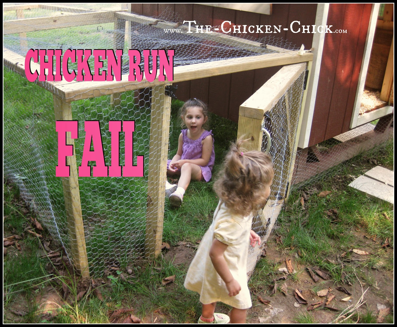 Make the door into the chicken run tall enough for people to enter without causing head injuries.