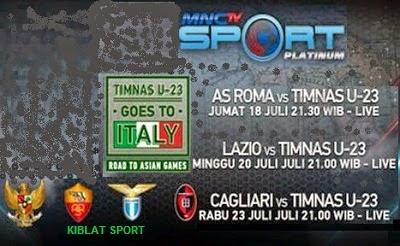 Jadwal Siaran Langsung Timnas Indonesia U-23 Tur Italia 2014 MNCTV