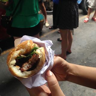 vietnam, otcb on tour, food, ban mi, saigon