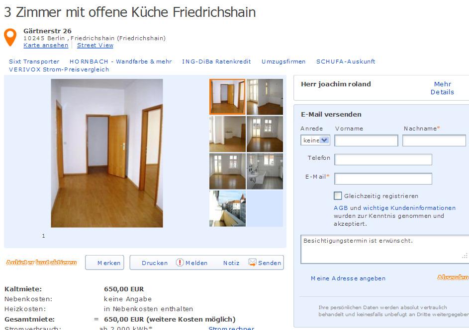 3 zimmer mit offene k che friedrichshain g rtnerstr 26 10245 berlin friedrichshain. Black Bedroom Furniture Sets. Home Design Ideas
