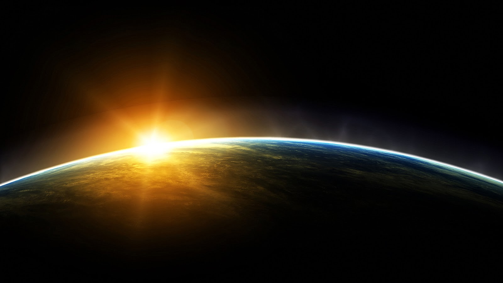 sunrise from space hd - photo #1