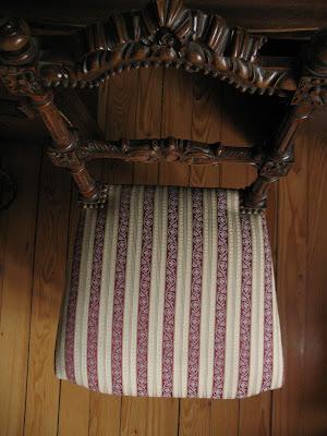 ma chaise de couturière vue de dessus