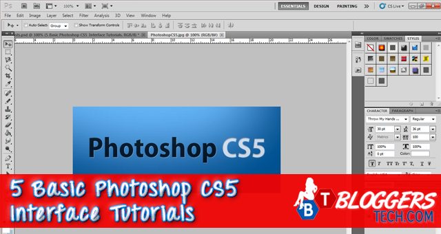 5 Basic Photoshop CS5 Interface Tutorials