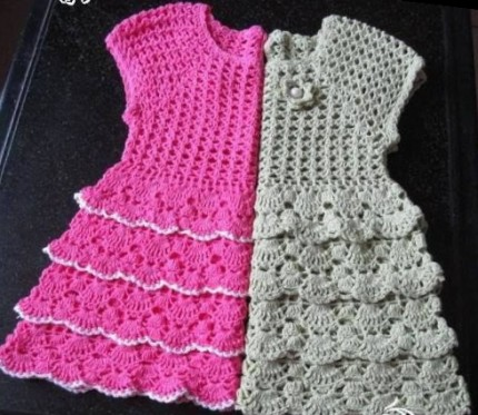 Dresses For Girls - Free Crochet Diagram