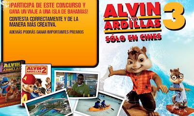premios viaje nassau bahamas dvds cds alvin y las ardillas concurso mundonick nick Mexico 2011 2012