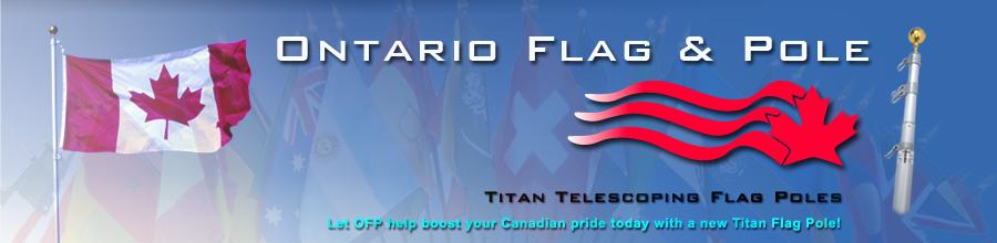 Ontario Flag & Pole