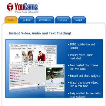 Youcams.com: A free instant video chat service to talk with Anyone
