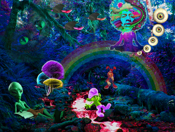 The gallery for --> Alice In Wonderland Trippy Cat