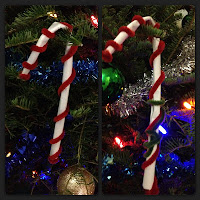 pipe cleaners, craft, Christmas craft, candy canes, Christmas decorations, tree decorations