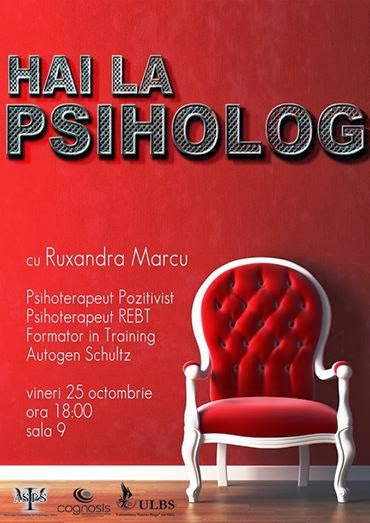 Hai la psiholog! Facultatea de Psihologie, Sibiu, 2014