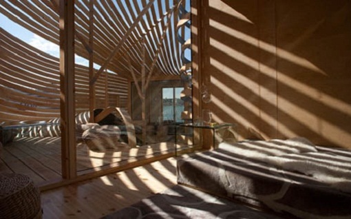 Architecture Building Using Wooden Material