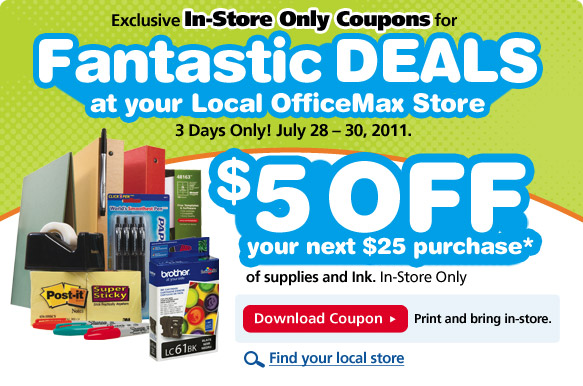 Office max coupons ink