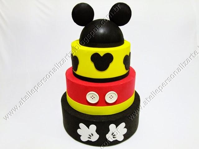 bolo cenográfico artistico Mickey Mouse