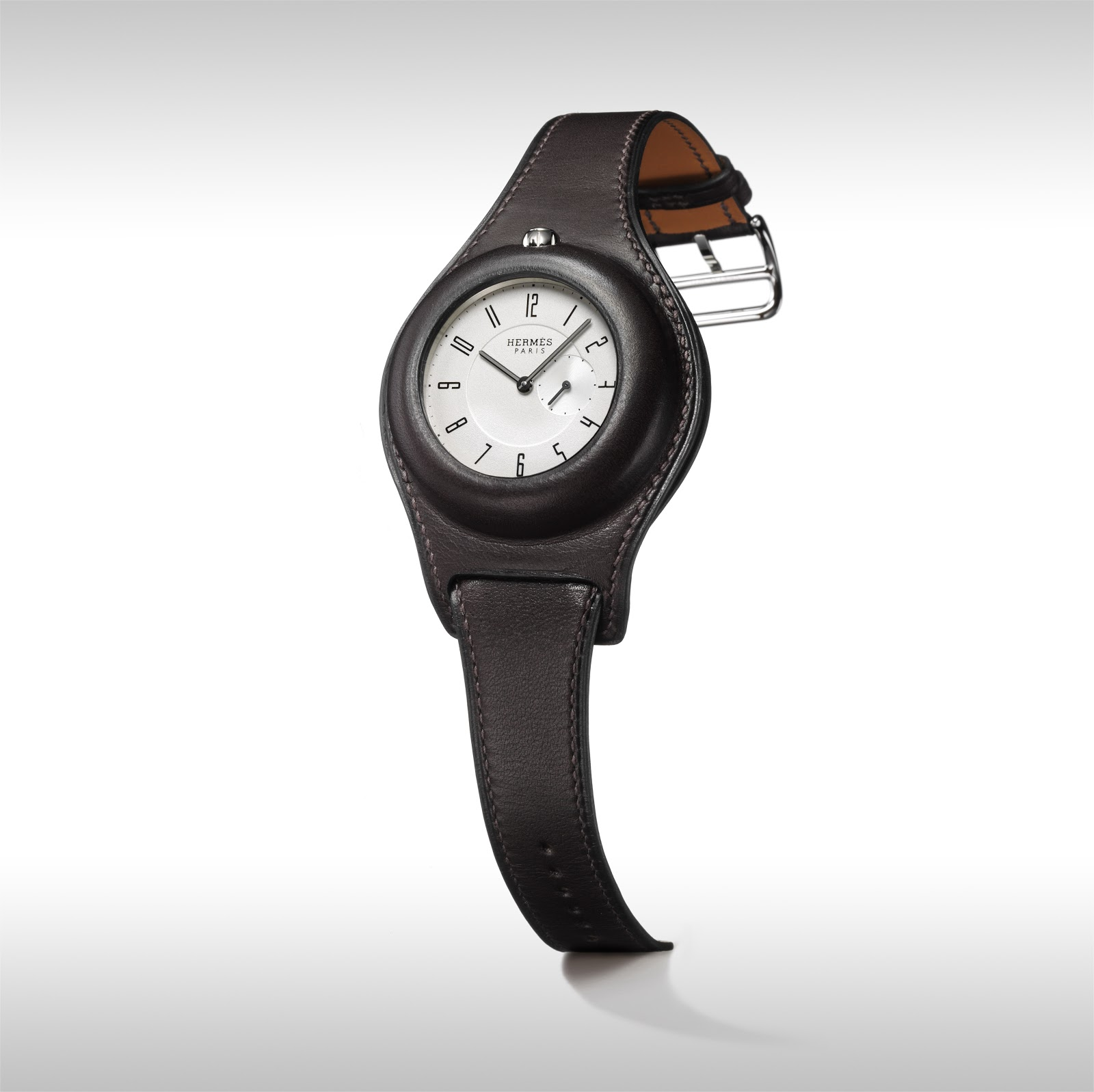 hermes leather watch