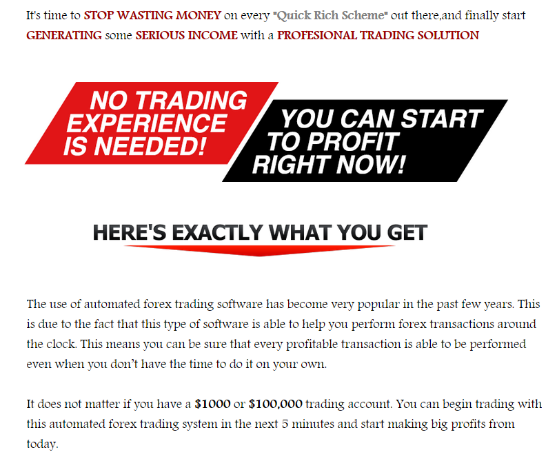 Forex robot review site