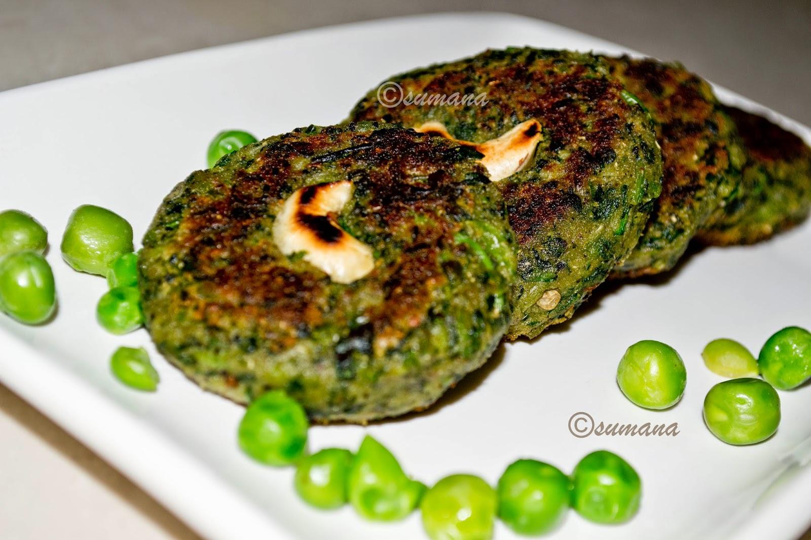 pure veg hara bhara kebab with green peas spinach and paneer
